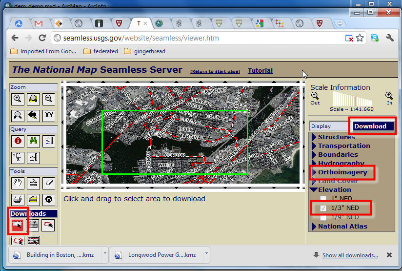 GIS Manual Digital Elevation Models - Download dem data usgs
